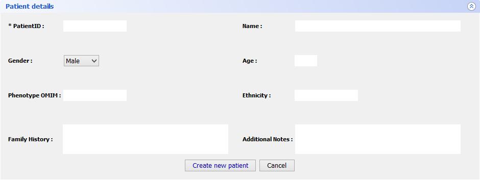 Patient details